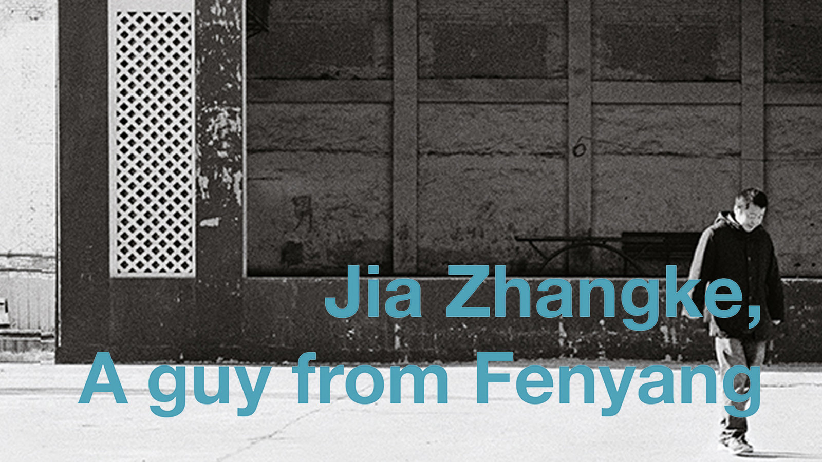 Jia Zhangke, A Guy from Fenyang - A Chinese Filmmaker Visits his Hometown